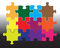 Twelve jigsaw pieces Stock Images