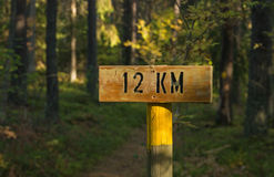 Twelve kilometers left Royalty Free Stock Image