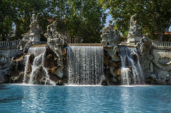 Twelve months fountain Royalty Free Stock Image