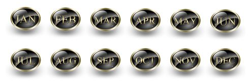The Twelve Months - Set Icon Stock Images
