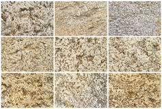 Twelve Natural Limestone Background or textures Royalty Free Stock Photos