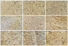 Twelve Natural Limestone Background or textures Royalty Free Stock Images