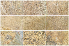 Twelve Natural Limestone Background or textures Stock Image