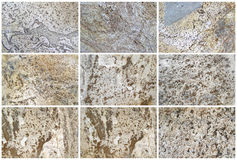 Twelve Natural Limestone Background or textures Royalty Free Stock Photography
