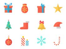 New Year icon pack. Twelve New Year icon pack Royalty Free Stock Images