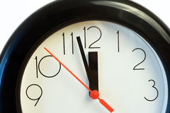 Twelve o'clock. Just before deadline - time, stress or rush business concept stock images