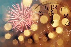 Twelve O`clock - New Year`s Eve Royalty Free Stock Photo