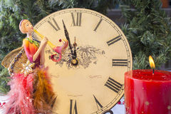 Twelve o`clock on New Year`s Eve Stock Image