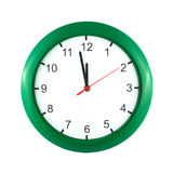 Twelve o'clock on wall watch isolated Royalty Free Stock Photo