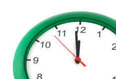 Twelve oclock on wall watch isolated Royalty Free Stock Photography