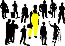 Twelve  people silhouettes Royalty Free Stock Photos