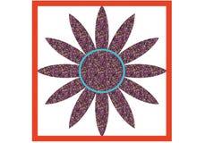 Twelve-pointed star purple logo Stock Image