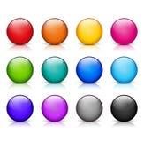Twelve round icons stock illustration