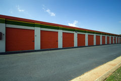 Twelve Self-Storage Units Stock Photos
