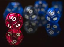Twelve sided dices Stock Images