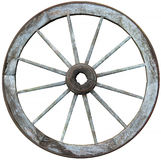 Twelve spoked timber and steel wagon wheel Stock Images