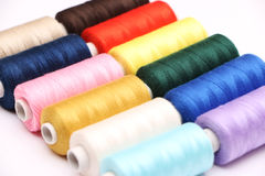 Twelve Spools of Thread Royalty Free Stock Images