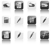 Twelve stationery icons Stock Photography