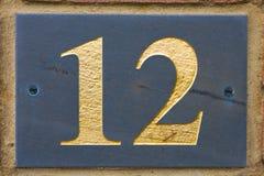 Twelve street number Royalty Free Stock Photo