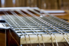 Twelve string metallic bandurria Royalty Free Stock Image