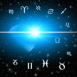 Twelve symbols of the zodiac Stock Image