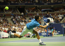 Twelve times Grand Slam champion Novak Djokovic of Serbia in action during his quarterfinal match at US Open 2016 Stock Images