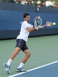 Twelve times Grand Slam champion Novak Djokovic of Serbia practices for for US Open 2016 Stock Photography
