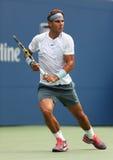 Twelve times Grand Slam champion Rafael Nadal duri Stock Photos