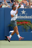 Twelve times Grand Slam champion Rafael Nadal duri Stock Images