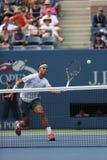Twelve times Grand Slam champion Rafael Nadal duri Royalty Free Stock Photo