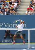 Twelve times Grand Slam champion Rafael Nadal during  first round match at US Open 2013 against Ryan Harrison Stock Photo