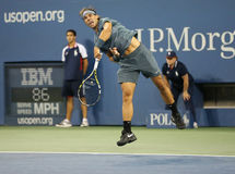 Twelve times Grand Slam champion Rafael Nadal during his second round match at US Open 2013 Stock Photos