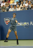 Twelve times Grand Slam champion Rafael Nadal during his second round match at US Open 2013 Royalty Free Stock Photo