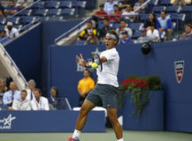Twelve times Grand Slam champion Rafael Nadal during his semifinal match at US Open 2013 against Richard Gasquet Stock Photos