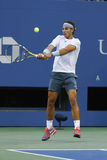 Twelve times Grand Slam champion Rafael Nadal during his semifinal match at US Open 2013 Stock Photos