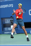 Twelve times Grand Slam champion Rafael Nadal practices for US Open 2013 at Arthur Ashe Stadium Stock Image