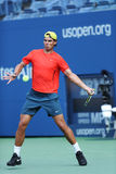Twelve  times Grand Slam champion Rafael Nadal practices for US Open 2013 at Arthur Ashe Stadium Stock Photography