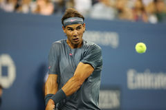 Twelve  times Grand Slam champion Rafael Nadal practices for US Open 2013 at Arthur Ashe Stadium Stock Photo