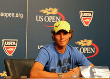 Twelve  times Grand Slam champion Rafael Nadal during press conference at Billie Jean King National Tennis Center Stock Image