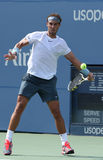 Twelve times Grand Slam champion Rafael Nadal during third round singles match against Ivan Dodig at US Open 2013 Royalty Free Stock Image