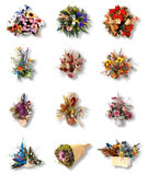 Twelve very pretty bouquet of flower Stock Image