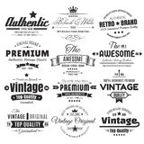 Twelve Vintage Insignias Or Labels Stock Image