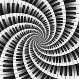 Twelve Way 3D Keyboard Spiral Stock Images
