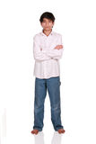 Twelve year old boy standing Royalty Free Stock Image