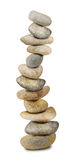 Twelve zen stones on white stock image