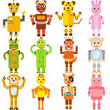 Twelve Zodiac Robots. A set of colorful and cute vector Icons : Twelve Zodiac Robots Royalty Free Stock Images