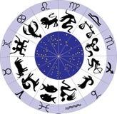 Twelve zodiac symbols stock illustration