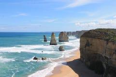Twelves传道者,大洋路,维多利亚澳大利亚 免版税库存图片
