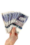 Twent pound notes Stock Photo