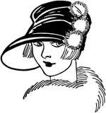 Twenties Gal vector illustration
